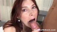 Freckles redhead blowjob video Weliketosuck freckled redhead sucks and fucks