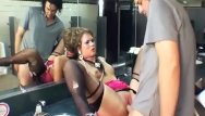 Sex tube glamour Glamour sex in thigh high nylon and gloves