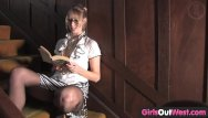 Dead and gone teen literature - Hot blondie loves literature and masturbation