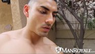 Gay man muscle picture - Manroyale muscled latino sucks during outdoor
