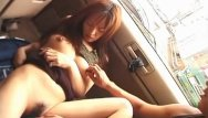 Stop the fucking car - Cute asian gf stops the car for a quick