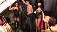 Magician strip - Cfnm femdom magician gives hj show