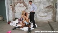 Facial back Back ally threesome with abbey - brazzers