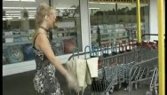 Bancroft stores bottom drawer Helpless lady is picked up at store