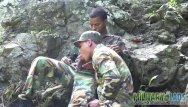 Gay boy scout leader - Army boys scout for hard meat outdoors