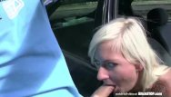 Stop vaginal odour - Bitch stop - squirting blonde fucked in car