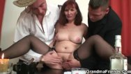 Sophie strip poker Hard 3some with oldie after strip poker