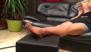 Cum on nylons clips - Long nylon footplay by my stepmom
