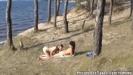 Brazilian nude beach private Killer hot nude couple fucking on the desolat