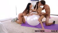 Moms cum tube Moms teach sex - sexy mom swaps cum with teen