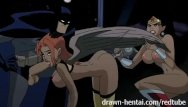 Batman with boobs - Justice league hentai - two chicks for batman