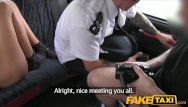 Backseat prom queen blowjobs - Faketaxi brunette has backseat threesome