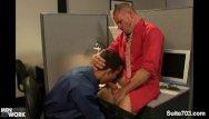 Gay blow job gang bang Sweet gays banging in the office at work