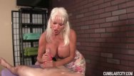 Cum shot city - Huge-titted granny handjob