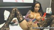 Big tit mom clips - Amazing hot busty ebony babe masturbation cam