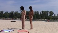 Nudist beauty peagent - Beautiful fresh faced teen plays at the beach