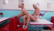 Round mound of ass creamed all over - Puma swede serves whip cream all over candy