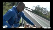 Hardcoe sex clips - Public fucking next on german highway hardco