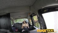 Hairy superhero Faketaxi huge tits and a big hairy pussy