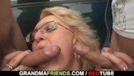 Mature fucked on soccer field slutload Old granny slut takes two cocks in the fields