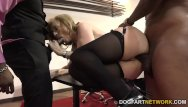 Matured threesome - Nina hartley fucks black guys for votes