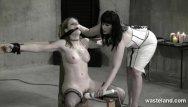 Hot lesbian dominatrix - Lesbian dominatrix flogs her sex slave