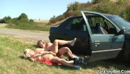 Clip couple mature sample screwing 80 years old bitch gets screwed in the car