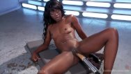 Cheyanne foxxx fucking - Ebony babe squirts all over her toys