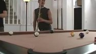 American gay nign - Young american tugs his cock on the pooltable