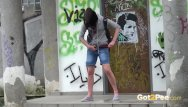 Peeing in public photos - Outdoor pissing compilation with sexy girls