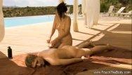 Video sex with oil Oil uncut massage video