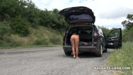 Nude connoisseur Nude on the mountain road