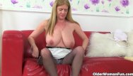 Coke can in older womans ass British milf lily cant hide her nylon fetish