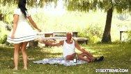 Old grandma grandpa sex Teen cuties kinky picnic with a grandpa