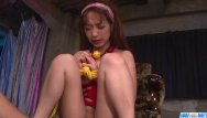 Bondage bimbos Sana anzyu, obedient bimbo, gets jizz on face