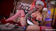Milf stripping christmas lingerie Sarah jessie christmas masturbation