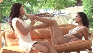 Stocking lesbian movies - Brunette lesbian couple gets wild oprgasms