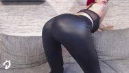 Lack leder latex domina Leder legging teen striptease