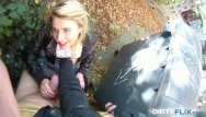 Dirty sex tricsk Blonde cutie tricked into outdoor sex