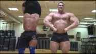 Hairy muscle naked males Big max and frank the tank before the worship