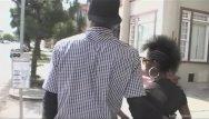 Couple fucks ebony tube - Black couple hurries home to fuck hard