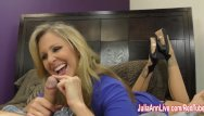 Athletes jack off Busty milf julia ann jacks him off