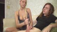 Amateur penis tug Hot blonde jerking a big dick