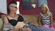 Milf maniacs Teeny fucked by tattooed mom