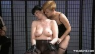 Brazilain wax redhead Helpless slave covered in hot wax by mistress