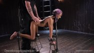 Bondage and restraint devices Cute alt girl takes brutal device torment