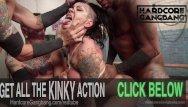 Extremely savage anal penetration - Extreme bondage double fuck gangbang