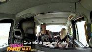 Amateur wrestling clip - Femalefaketaxi lesbians wrestle in taxi