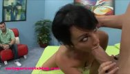 Wifes first big black cock - Black haired young wife gets first huge white
