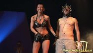 Piercing the clitoris needles videos Crazy fetish needle show on stage